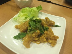 deep fried fish with salted egg